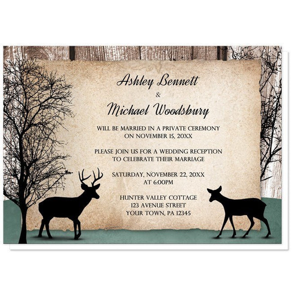 Deer Reception - Rustic Woodsy Deer Reception Only Invitations from Artistically Invited