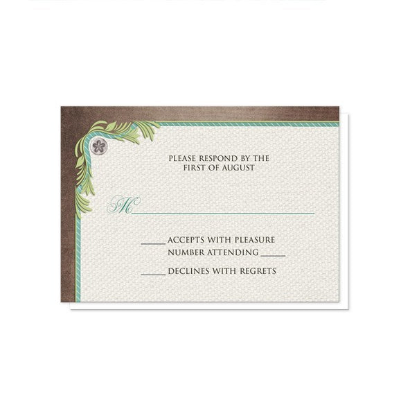 Rustic Succulent Garden Reception Only Invitations - Artistically Invited