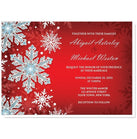 Royal Red White Blue Snowflake Wedding Invitations at  Artistically Invited