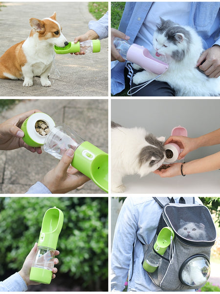 Food & Water Dispensing Bottle for Pets