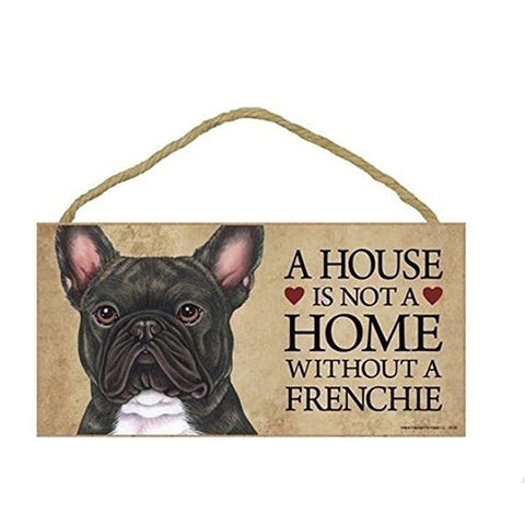 French Bulldog Rustic Wooden Plaques