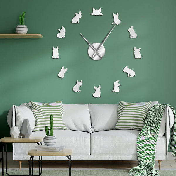 DIY French Bulldog Wall Clock
