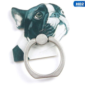 360 degree rotation French Bulldog phone ring