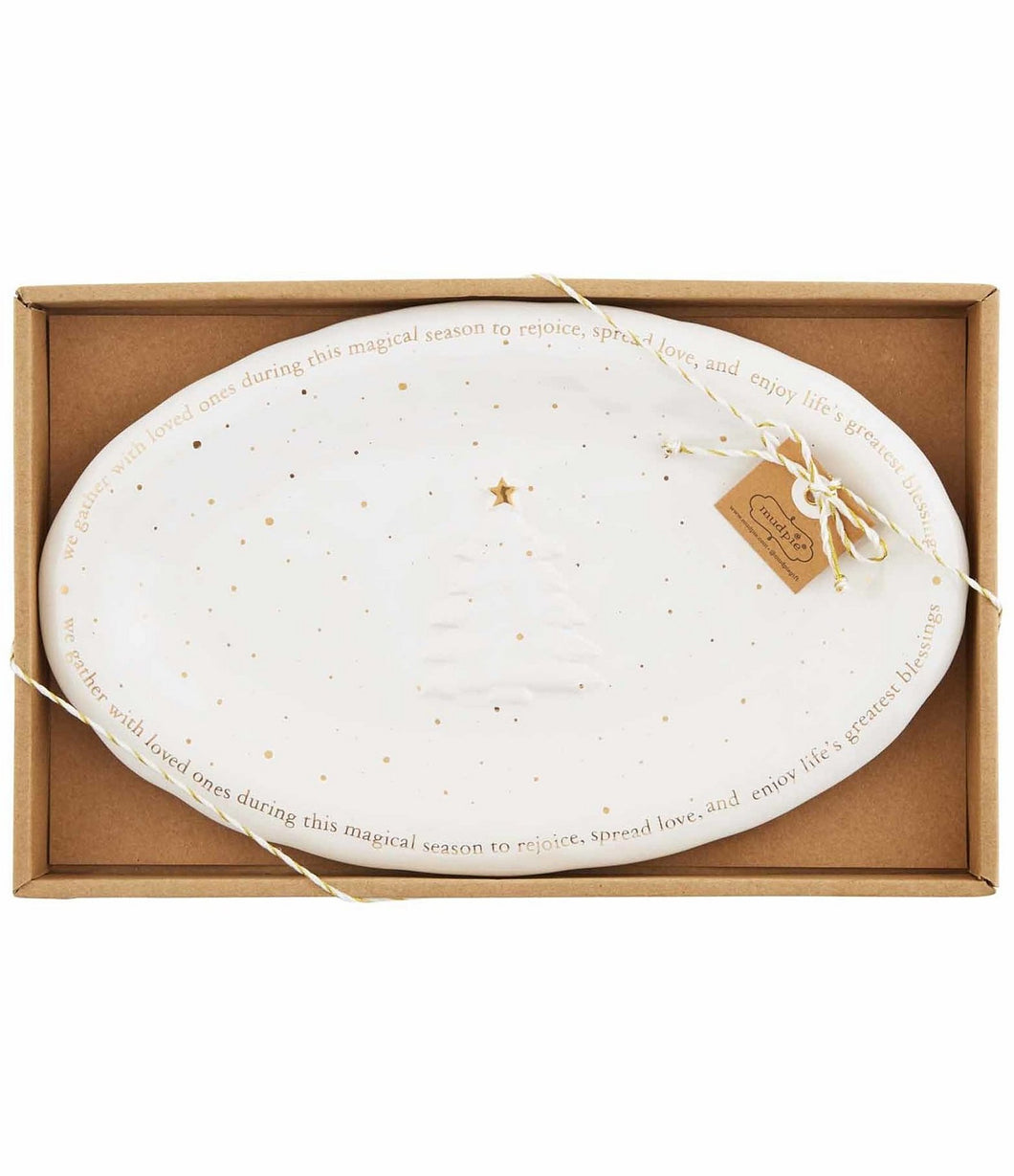 Mudpie Gold Splatter Small Boxed Plate