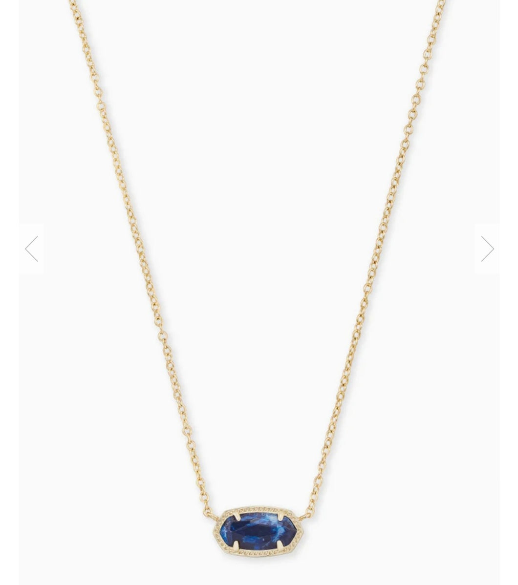 Kendra Scott Elisa Gold Pendant Necklace in Cobalt Howlite