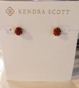 Kendra Scott Nola Stud Earrings in Vintage Gold Burnt Sienna