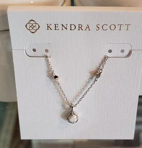 Kendra Scott Short Pendant Necklace in Silver White Howlite