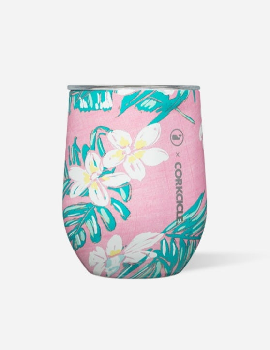 Corkcicle  x Vineyard Vines Tropical Flowers Stemless
