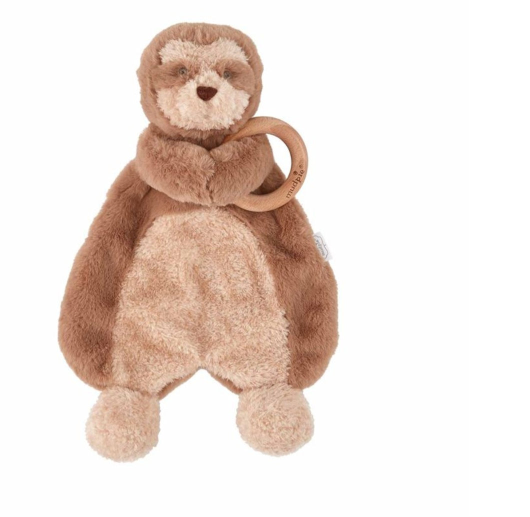 Mudpie Sloth Woobie with Teether
