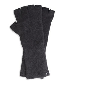 Barefoot Dreams Fingerless Gloves- Graphite- one size