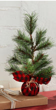 Load image into Gallery viewer, Mudpie Buffalo Faux Pine Tree- Red/Black