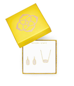 Kendra Scott Elisa Necklace and Earrings Set- Gold