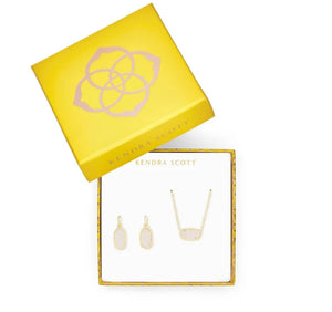 Kendra Scott Elisa Necklace and Earrings Set- Silver