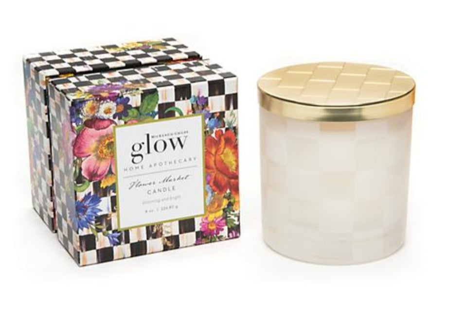 MacKenzie-Childs Glow Home Apothecary Flower Market Candle
