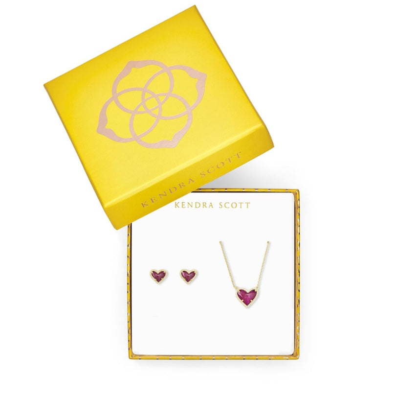 Kendra Scott Gift Set - Raspberry Heart