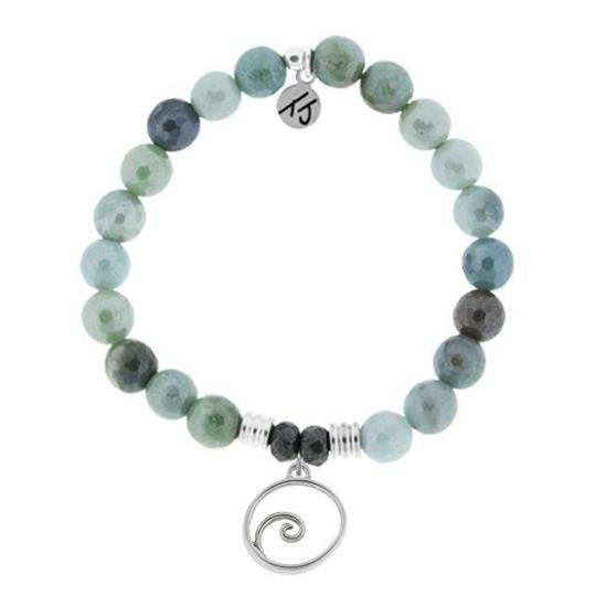 T Jazelle Wave Bracelet in Amazonite