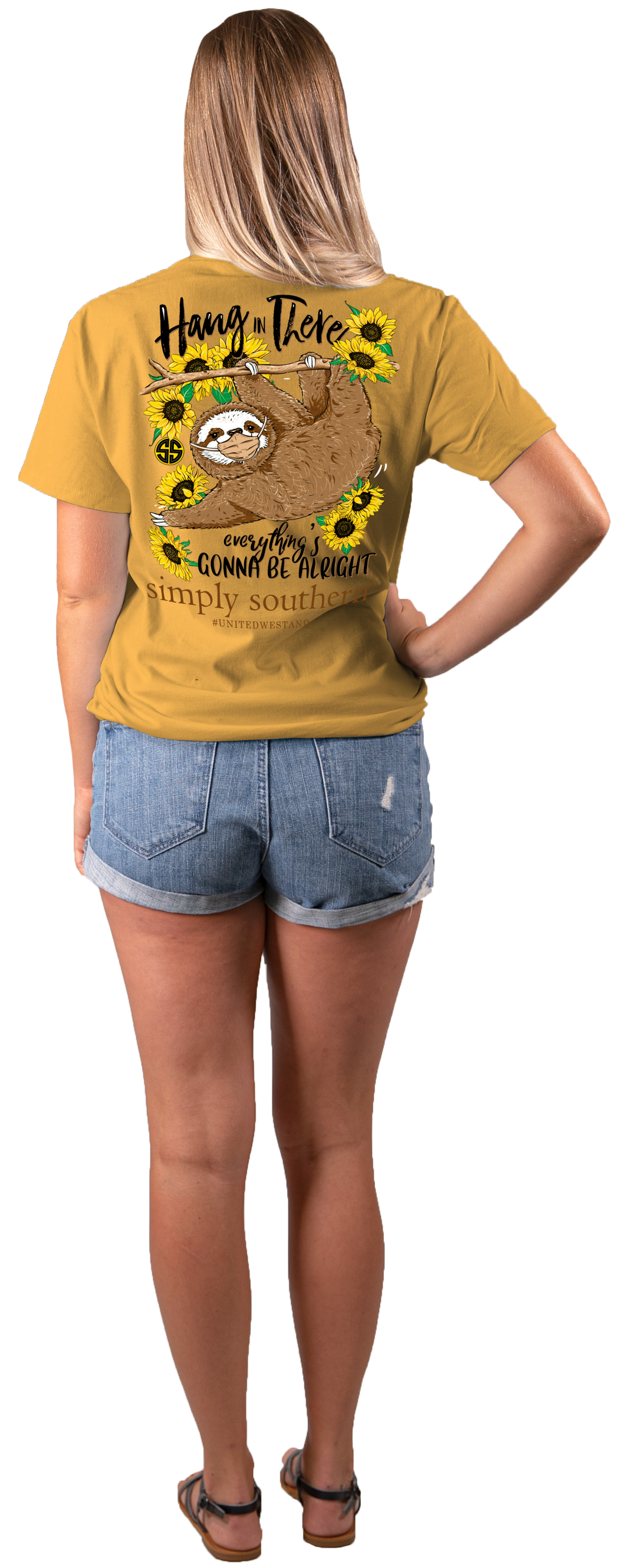 Simply Southern Sloth in Mustard