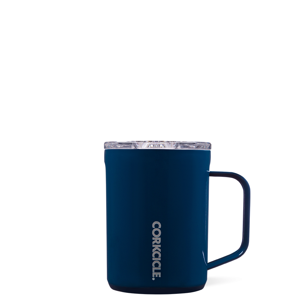 Corkcicle Navy Coffee Mug