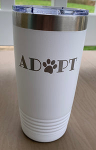 20 OZ Stainless Steel Adopt Tumbler White