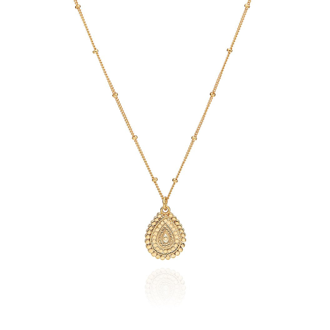Anna Beck Scalloped Teardrop Necklace