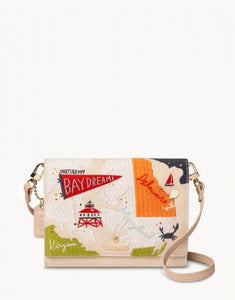 Bay Dreams Embroidered Convertible Crossbody