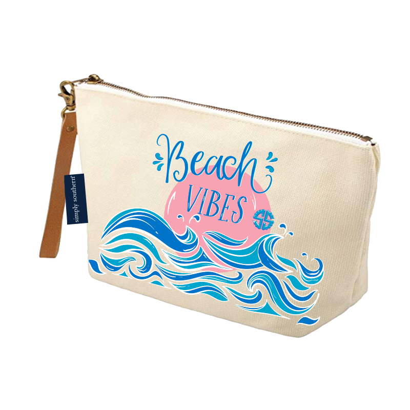 Simply Southern Canvas Pouch Beach Vibes