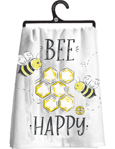 Simply Southern Bee Happy Tea Towel
