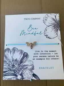 Bee Mindful Bracelet in Blue