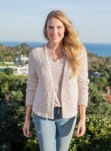 Barefoot Dreams Boucle Cardi in Almond