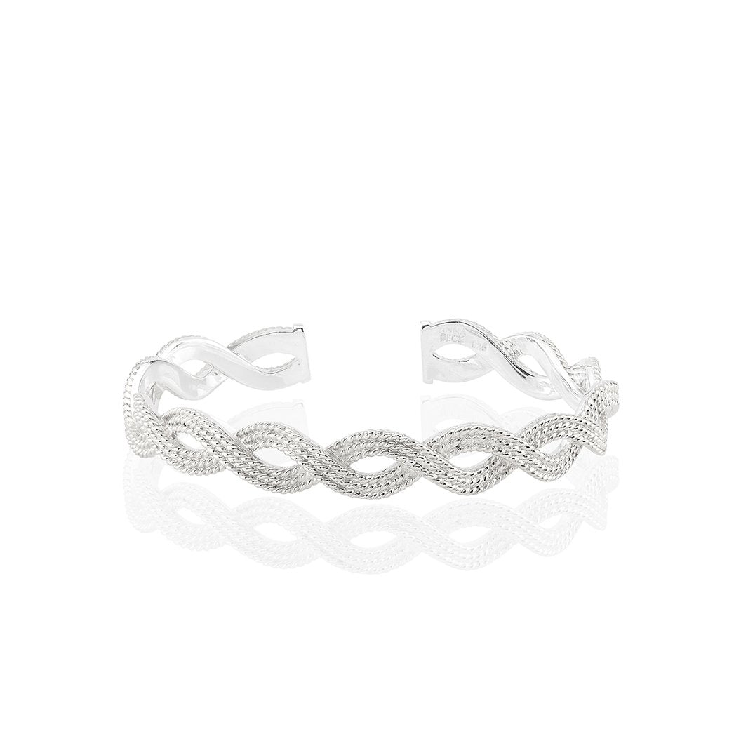 Anna Beck Braided Stacking Cuff - Silver