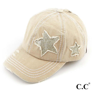 Cream Star Hat