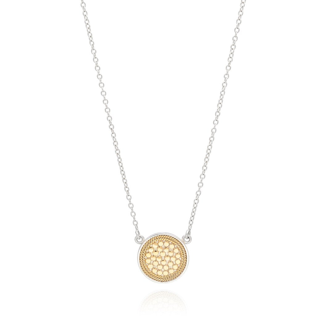 Anna Beck Disc Necklace - Gold/Silver Reversible