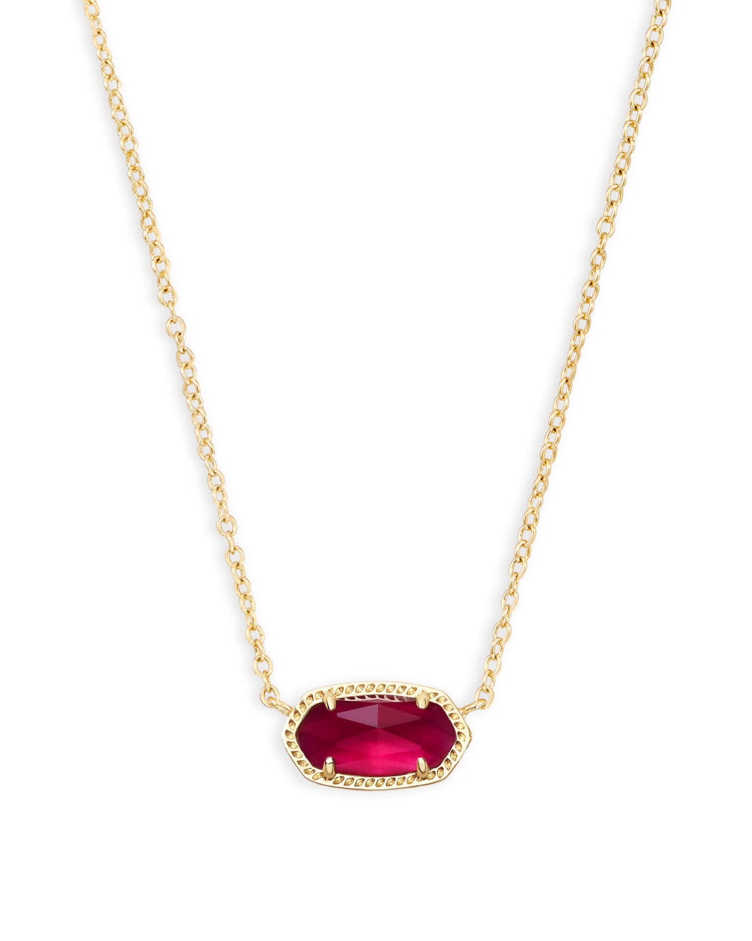 Kendra Scott Elisa Gold Pendant in Berry Illusion