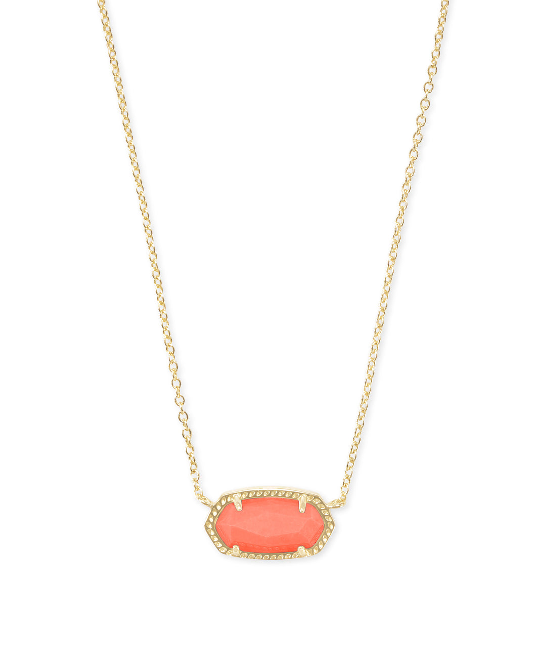 Kendra Scott Elisa Necklace in Bright Coral