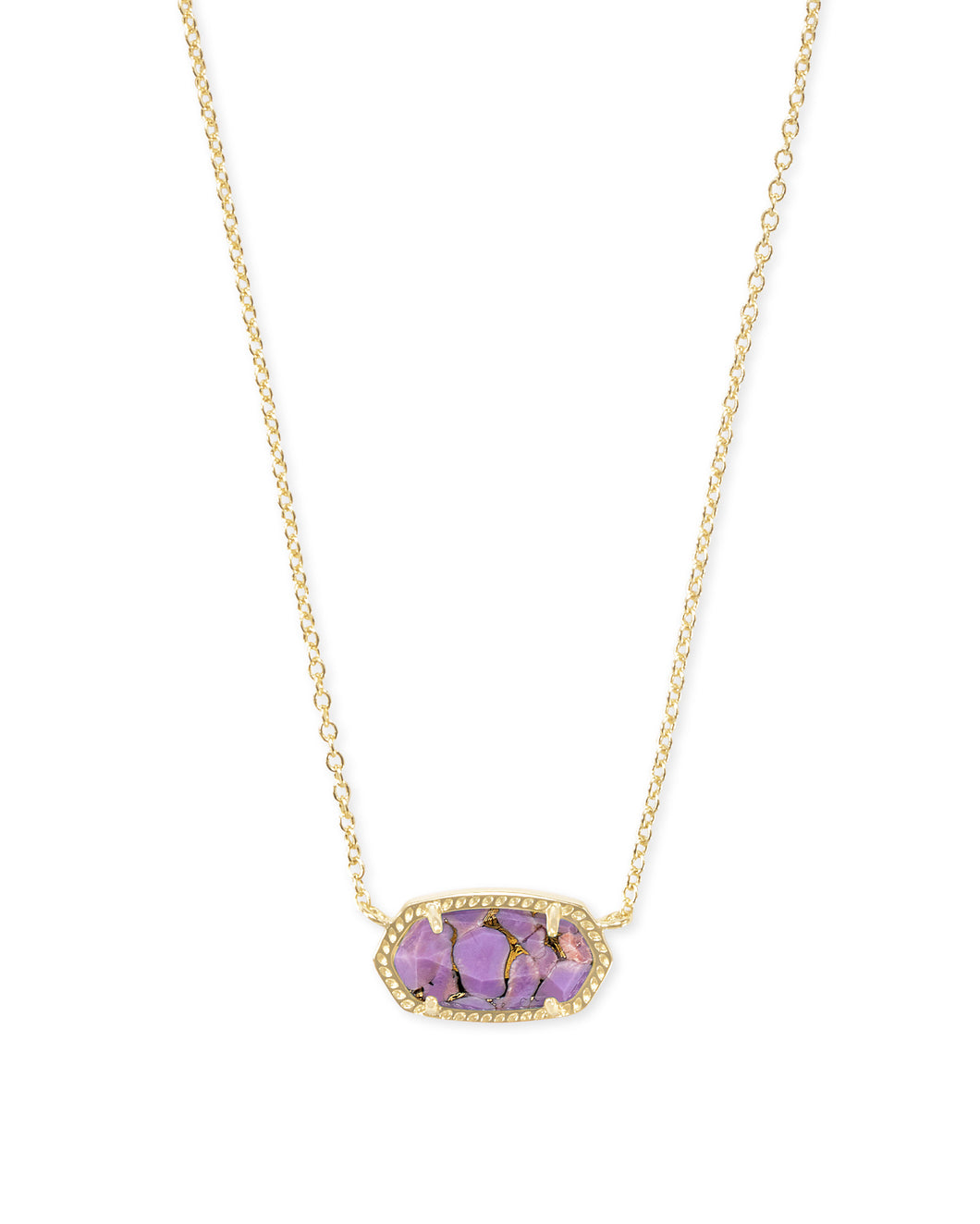 Kendra Scott Elisa Gold Pendant Necklace in Lilac