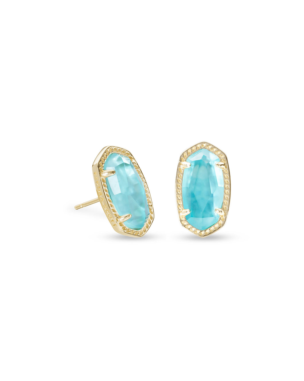 Kendra Scott Ellie Gold Earring in Aqua Illusion