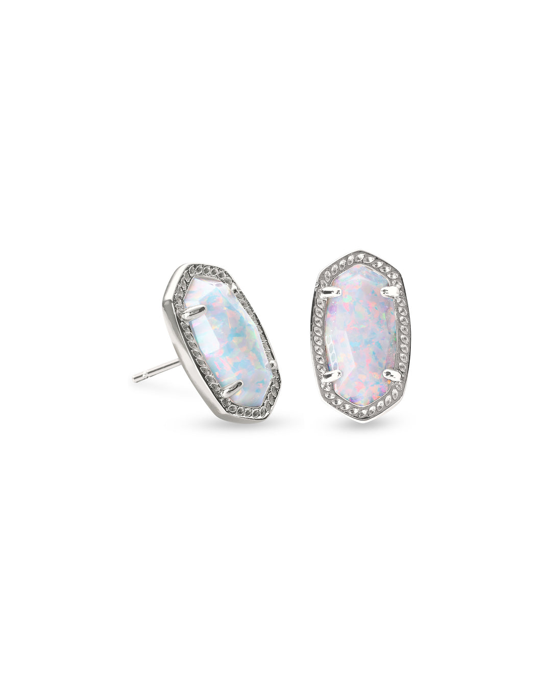 Kendra Scott Silver Ellie in White Opal
