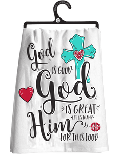 Simply Southern God is Good Tea Towel