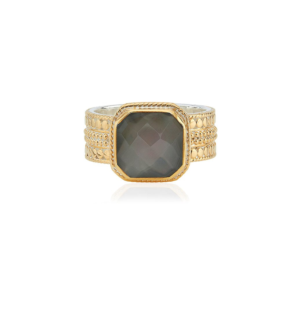 Anna Beck Grey Quartz Cushion Ring