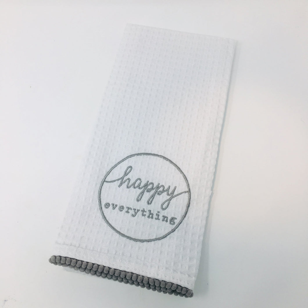 Mudpie Happy Everything Tea Towel