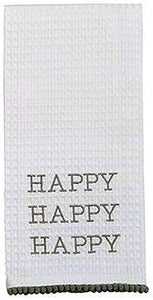 Mudpie Happy Tea Towel