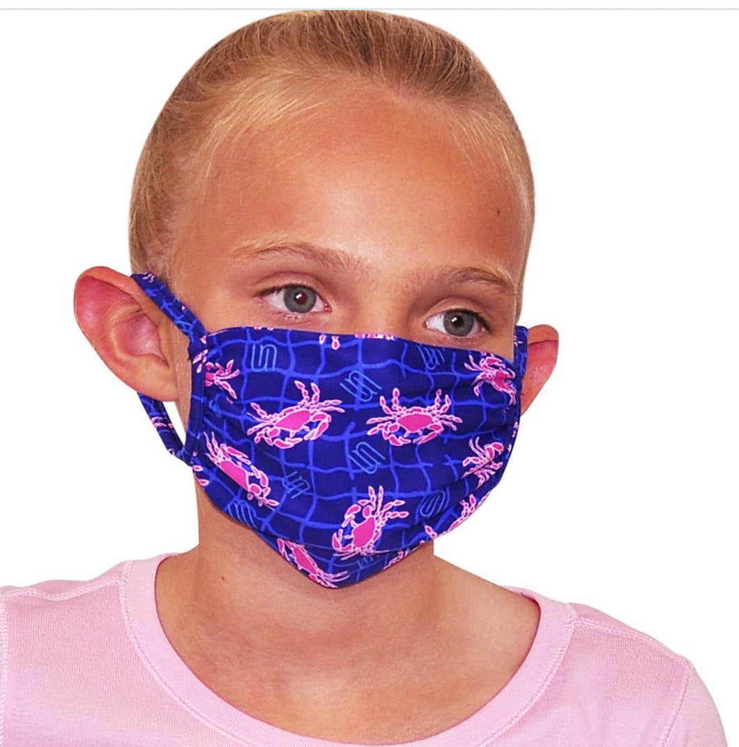 Pink Crab Kids Mask