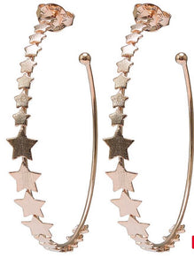 Sheila Fajl Small Altair Hoops in Champagne