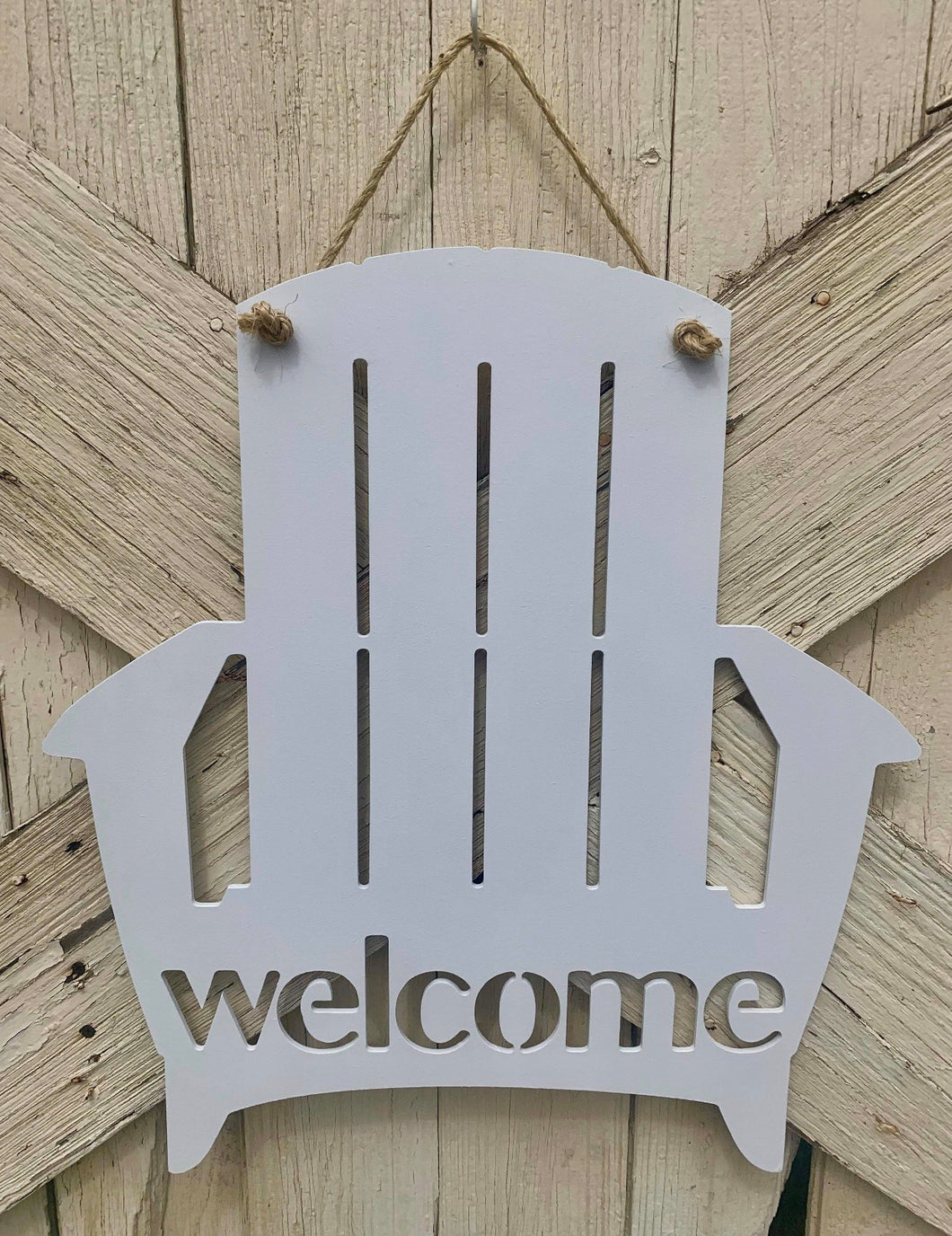 Welcome Sign White