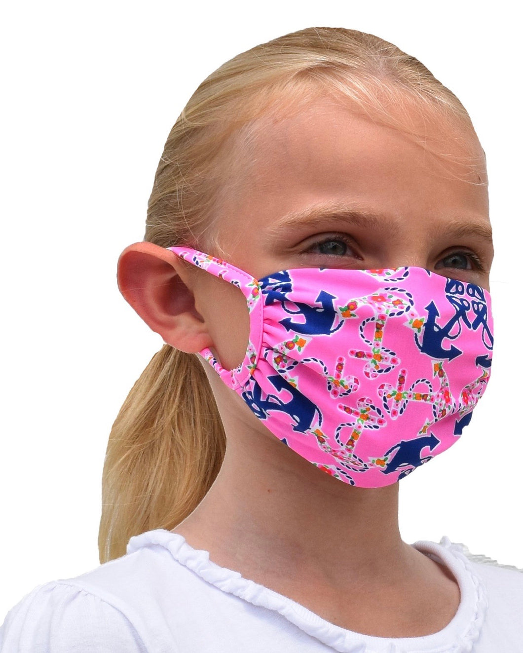 Pink Anchor Kids Mask