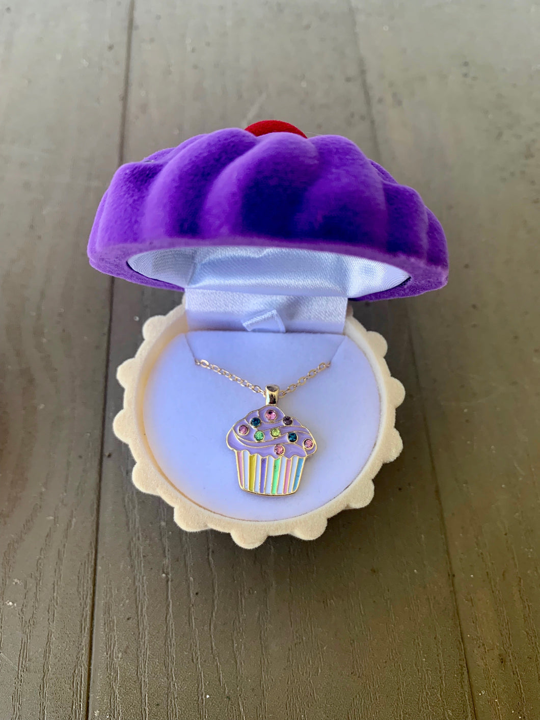Kids Cupcake Necklace