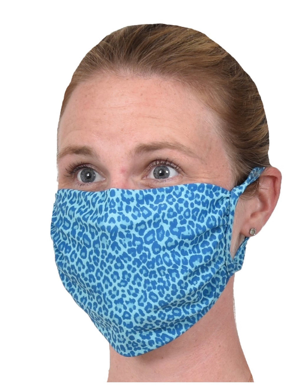 Blue Cheetah Face Mask