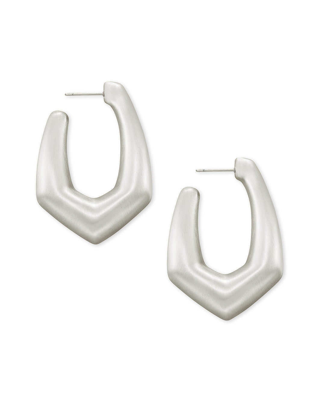Kendra Scott Kaia Hoop Earrings in Silver
