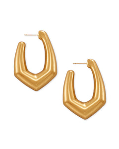 Kendra Scott Kaia Hoop Earrings in Vintage Gold
