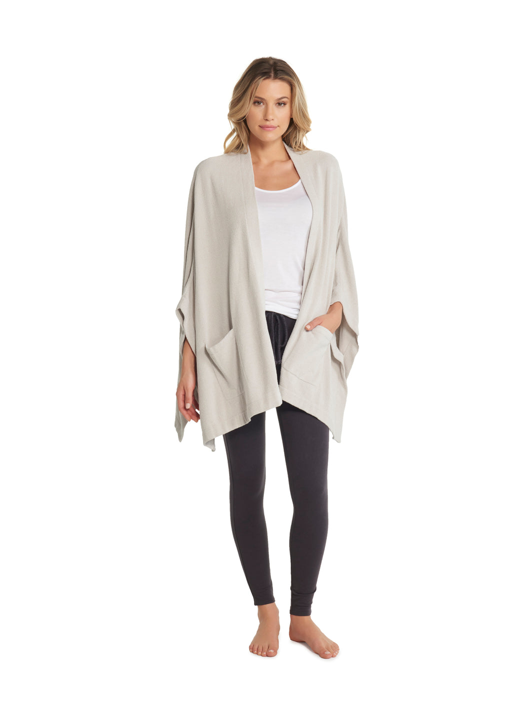 Barefoot Dreams Kimino Wrap in Fog Gray One Size
